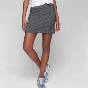 Athleta Sz Medium Black Heather Excursion Skort